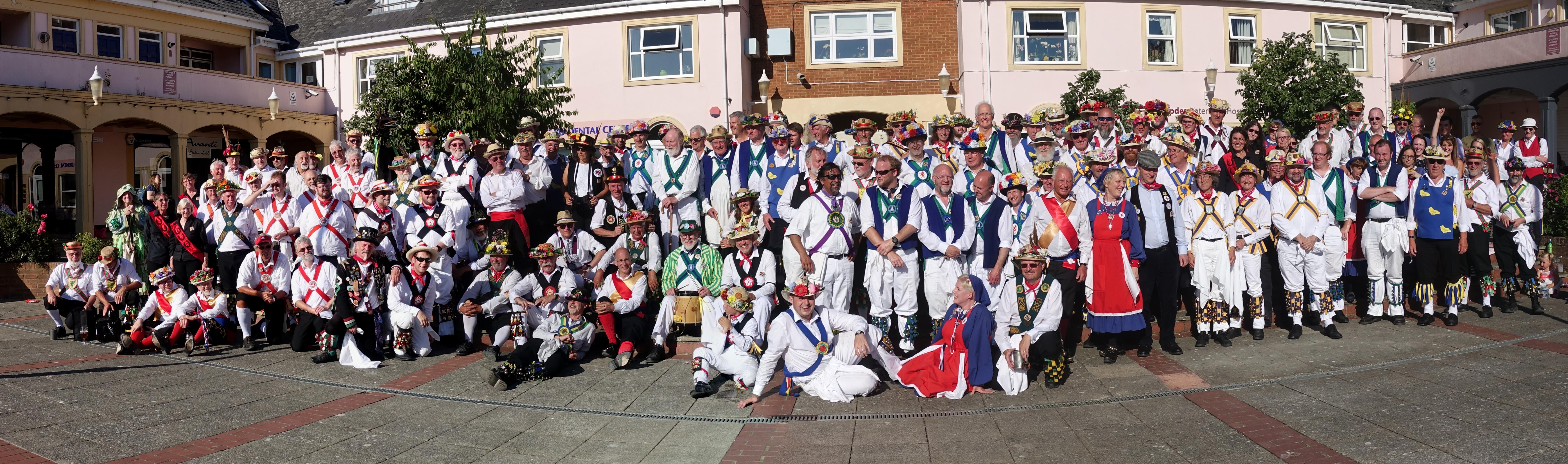 Panorama Photo of 70th Anniversary group